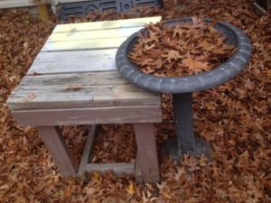 birdbath & work table
