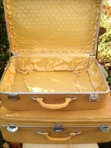 Amelia Earhart vintage suitcases