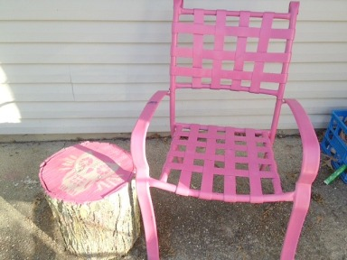 pink patio furniture